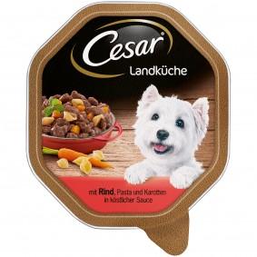 Cesar Landküche mit Rind, Pasta und Karotten