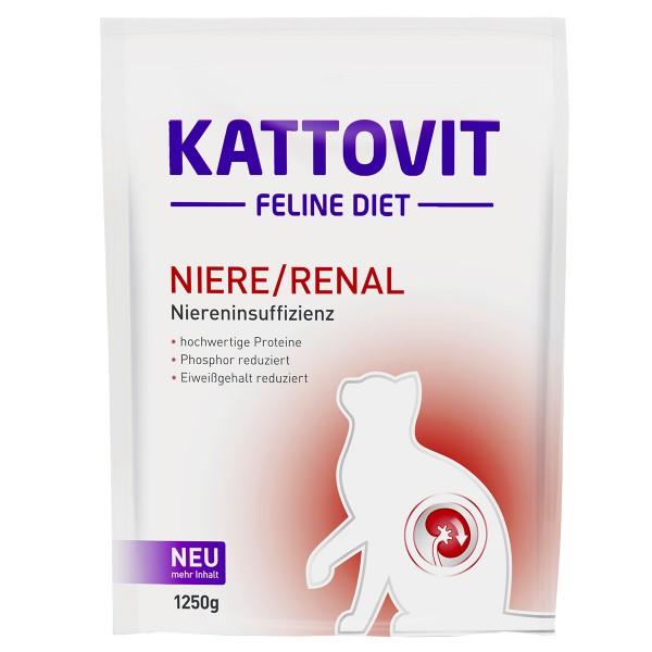 Kattovit Katzenfutter Feline Diet Niere/Renal4x1,25kg