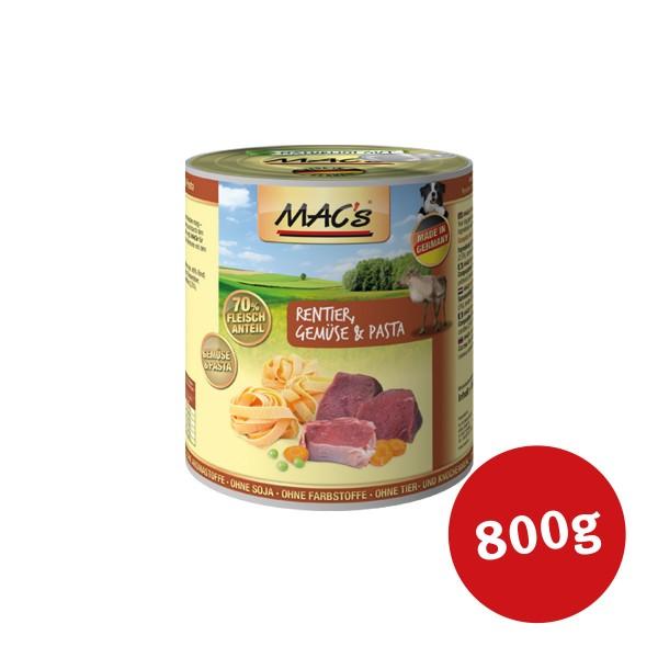 MAC's Dog Hunde-Nassfutter Rentier, Nudeln und Gemüse