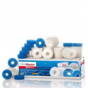 Filtermaster Filtermedien BigPack Set 1 für Eheim Aquaball, Biopower und Vorfilter