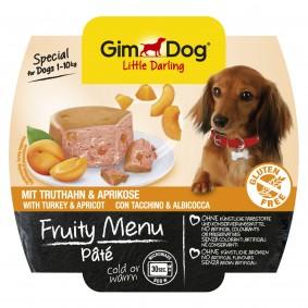 GimDog fruity Menu Pâté mit Truthahn & Aprikose