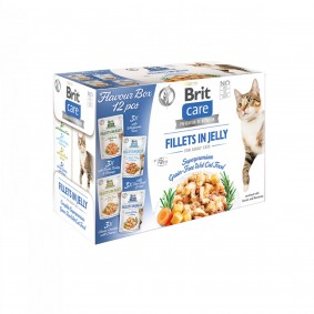 Brit Care Cat Flavour box-Fillet in Jelly