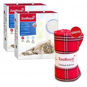 ZooRoyal Ultra Klump-Streu mit frischem Duft naturweiss 2x6l