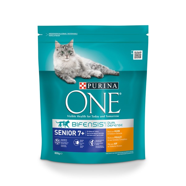 Purina One Bifensis Katzenfutter Senior 7+ Huhn 800g