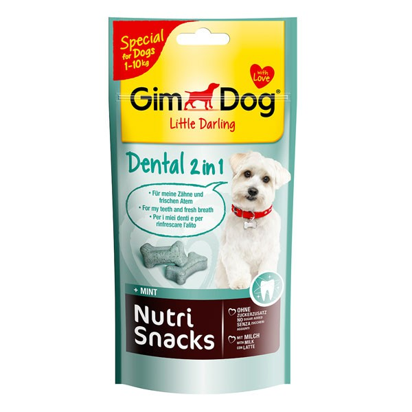 GimDog Hundesnack Nutri Snacks Dental 2in1 40g