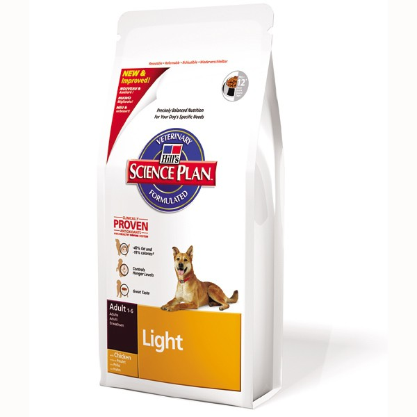 Hill's Science Plan Canine Adult Light Medium mit Huhn 12kg