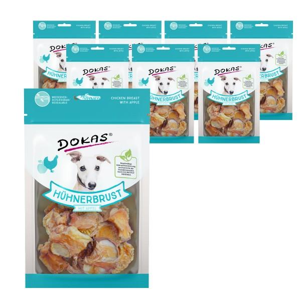 Dokas Hundesnack Hühnerbrust mit Apfel 8x70g
