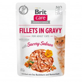 Brit Care Cat Fillets in Gravy with Savory Salmon