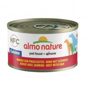 Almo Nature HFC Cuisine Dog Rind mit Schinken 95g 5+1 gratis