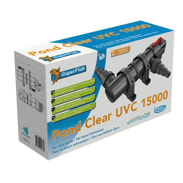 SuperFish PondClear UVC-Klärer für Teiche - 18 ...