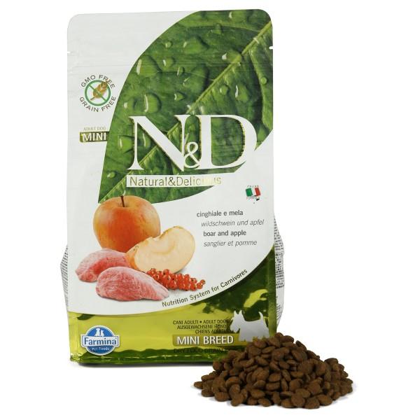 N&D Hundefutter Wildschwein&Apfel Adult Mini getreidefrei 800g