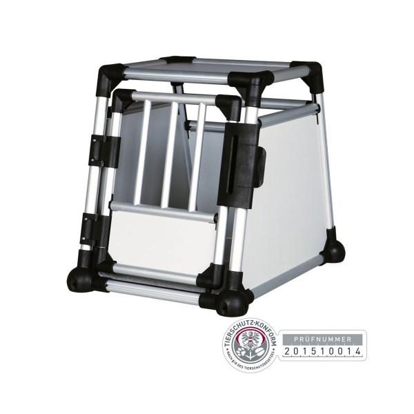 Cage de transport pour chiens, avec cadre en aluminium