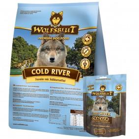 Wolfsblut Cold River Forelle&Süßkartoffel 15kg + 225g Wolfsblut Cracker GRATIS