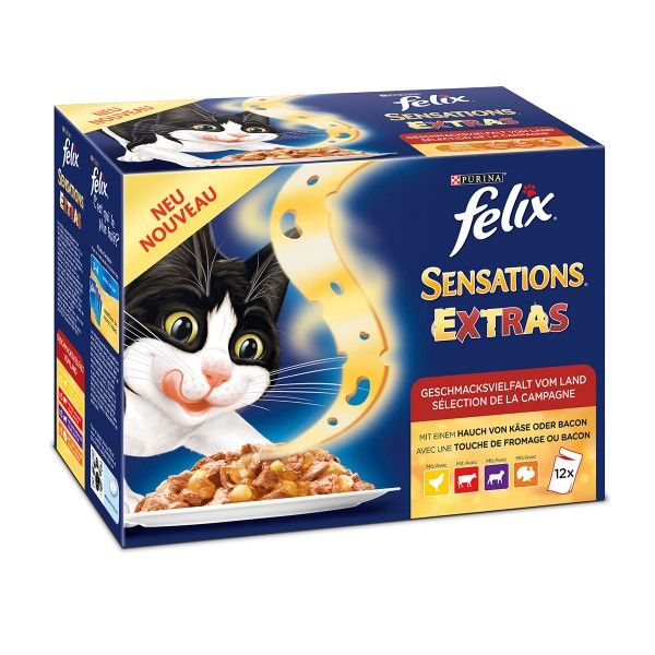 Felix Sensations Extras Geschmacksvielfalt vom Land Multipack 12x100g