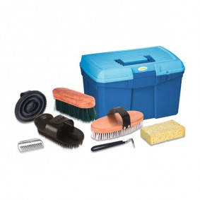 Kerbl Putzbox mit herausnehmbarem Einsatz, befüllt