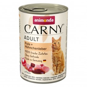 animonda Carny Adult Pute + Hühnchenleber 400g Dosen