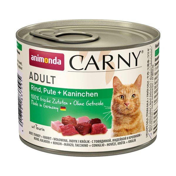 Animonda Katzen-Nassfutter Carny Adult Rind, Pute & Kaninchen