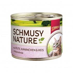 Schmusy Nature's Menü Pute+Kaninchen+Reis 190g
