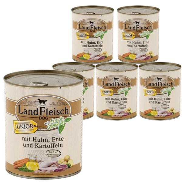 Landfleisch Dog Junior Huhn, Ente & Kartoffeln