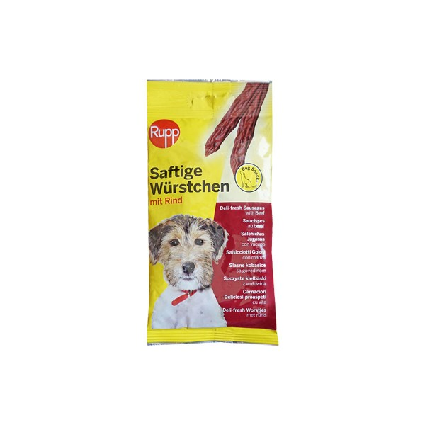 Rupp Hundesnack Saftige Würstchen 4 Stk. 70g