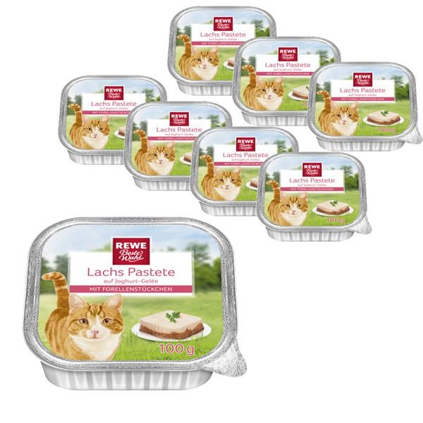 REWE Beste Wahl Katzenfutter Lachs Pastete mit Forelle