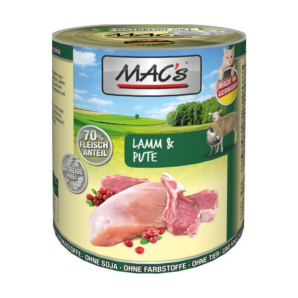 MAC's Cat Nassfutter Fleischmenü Lamm & Pute