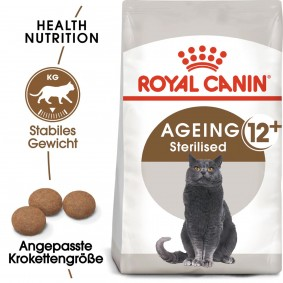 ROYAL CANIN AGEING 12+ Sterilised granule pro starší kastrované kočky, 4 kg