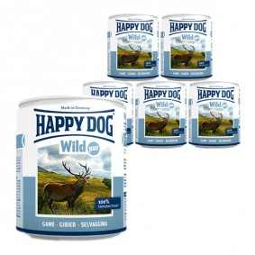 Happy Dog Pur Gibier - Aliment pour chiens 6 x 800 g