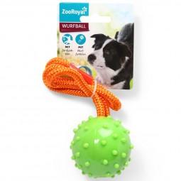 ZooRoyal Wurfball am Seil grün