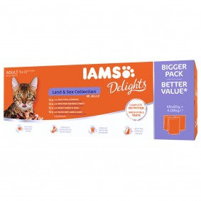 Iams Delights Multipack Land & Sea Collection in Gelee