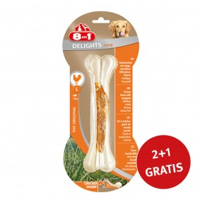 8in1 Delights Kauknochen Strong L 2+ 1 GRATIS
