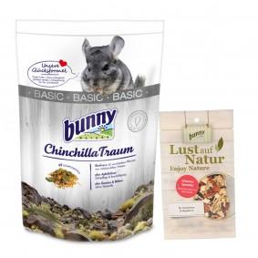 Bunny ChinchillaTraum basic 3,2kg + VITAMIN-SPENDER Gemüse-Mix mit Rote-Bete 50g Gratis!