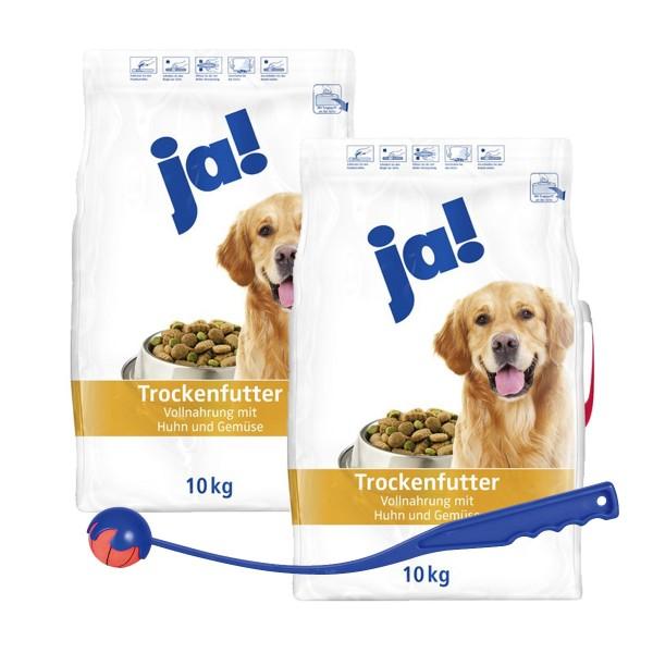 ja! 20 kg Hundefutter mit Huhn und Gemüse + gra...