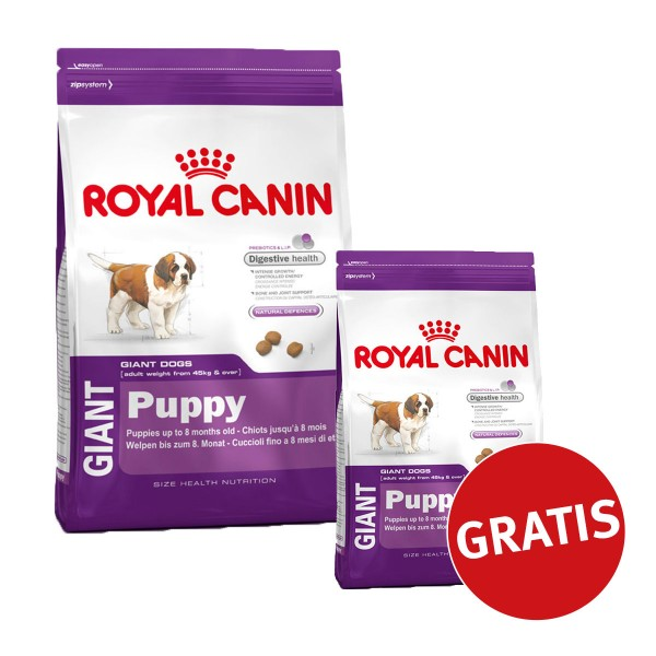 Royal Canin Giant Puppy 15kg + 4kg Gratis