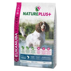 Eukanuba NaturePlus+ Adult Medium Breed losos
