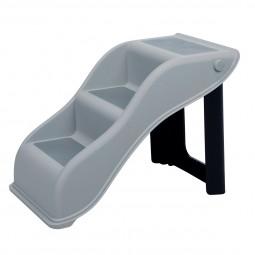 Trixie Treppe aus Kunststoff - hellgrau