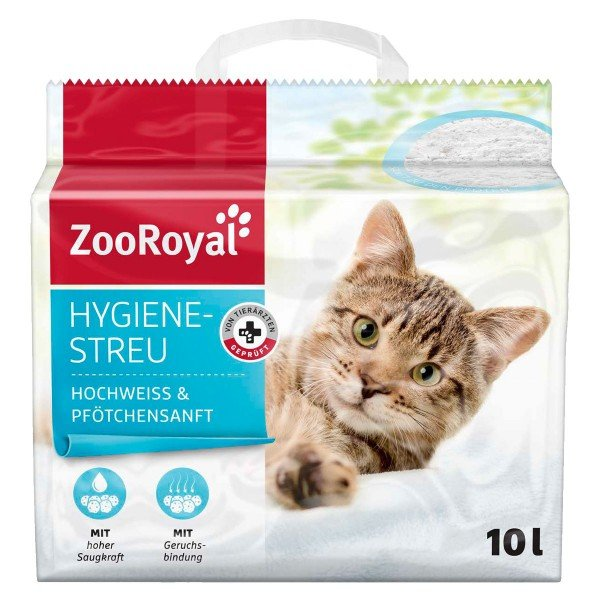 ZooRoyal Hygienestreu hochweiss & Pfötchensanft - 10l