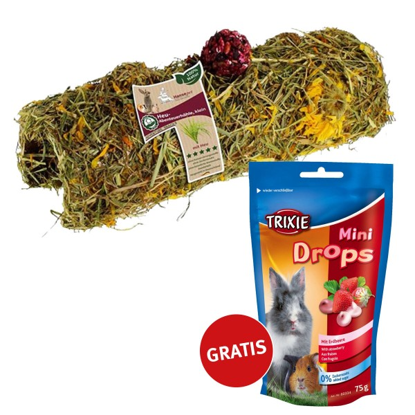 Hansepet Heu-Abenteuerhöhle klein PLUS Mini Drops GRATIS!