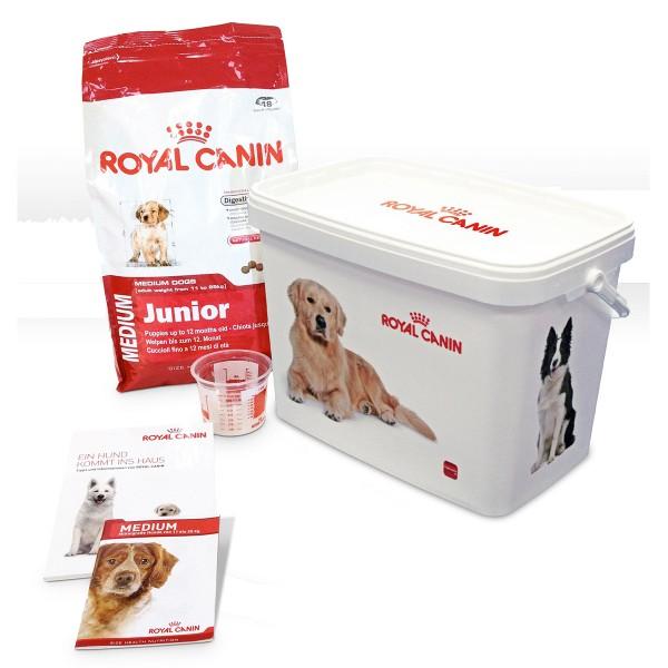 Royal Canin MEDIUM Junior Hunde-Starterpaket für Welpen