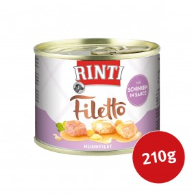 Rinti Hunde-Nassfutter Filetto Huhn & Schinken in Sauce