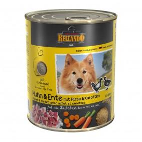 Belcando Feuchtnahrung Huhn & Ente mit Hirse & Karotten 6x800g 5+1 GRATIS
