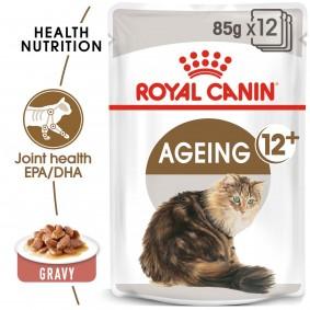 ROYAL CANIN AGEING 12+ in Soße Nassfutter für ältere Katzen 48x85g