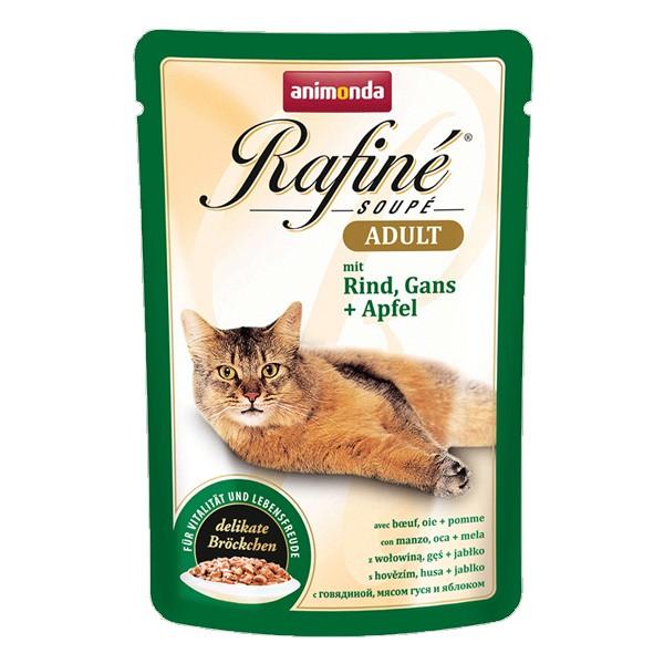 Animonda Katzenfutter Rafiné Soupé Adult mit Rind, Gans & Apfel - 100g 83653