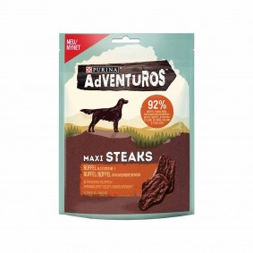 Purina AdVENTuROS Hundeleckerlis Maxi Steaks mit Büffel