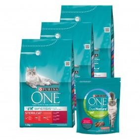 Purina One Bifensis Sterilcat Rind 3x1,5kg + Dual Nature Sterilized Rind mit Spirulina 750g gratis