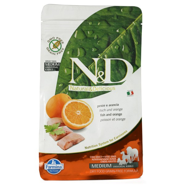 N&D Hundefutter Fisch&Orange Adult getreidefrei