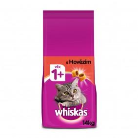 Whiskas granule s hovězím pro dospělé kočky