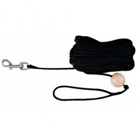 Trixie Schleppleine mit Holzkugel schwarz