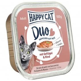 Groß Gaglow Angebote Interquell Happy Cat Paté auf Häppchen Geflügel & Rind 12x100g