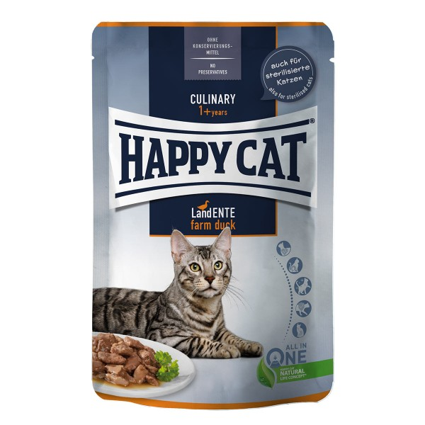 Happy Cat Culinary Meat in Sauce Land Ente Pouch
